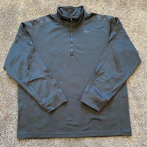 Nike Grey Quarterzip pullover crew neck sweater